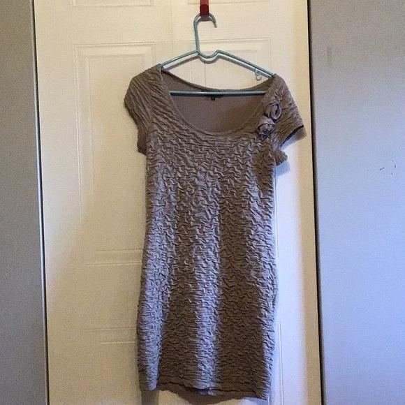 Light brown texture dress